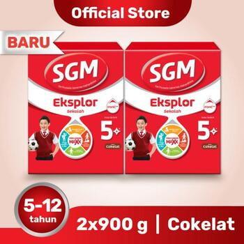 Paket 2 - SGM Eksplor 5 Plus Susu Pertumbuhan 5-12 Tahun Coklat 900 g harga terbaik