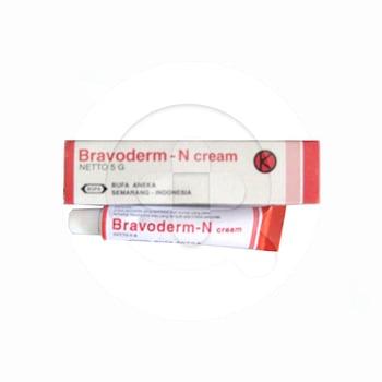 Bravoderm N krim adalah obat untuk mengatasi peradangan kulit atau dermatitis akibat infeksi bakteri
