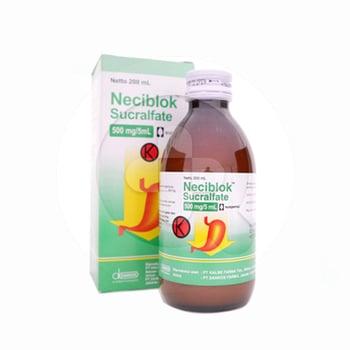 Neciblok suspensi 200 ml obat untuk pengobatan jangka pendek tukak usus dua belas jari
