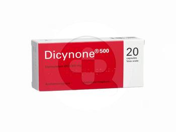 Dicynone tablet adalah obat untuk menghentikan perdarahan seperti perdarahan pada daerah rahim dan perdarahan pasca operasi.