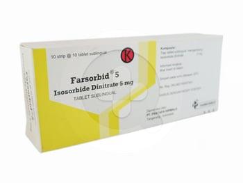Farsorbid tablet 5 mg obat yang digunakan untuk mengobati dan mencegah angina pectoris.