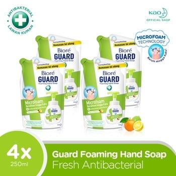 Biore Hand Soap Fresh Antiseptic Pouch 250 ml - 4 Pcs harga terbaik 75872