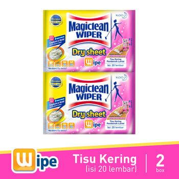 Magiclean Wiper Dry Sheet 20S 2 Pcs harga terbaik 258800
