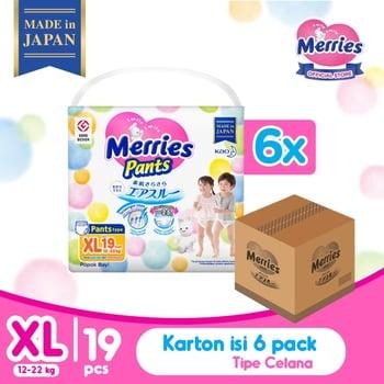 Merries Baby Diaper Pants XL 19's - 1 Karton harga terbaik 714978