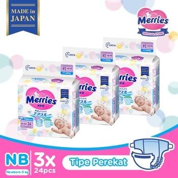 Merries Baby Diapers New Born 24S - Triple Pack harga terbaik 240600