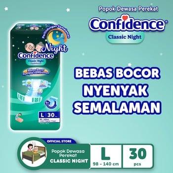 Confidence Popok Dewasa Classic Night L 30 harga terbaik
