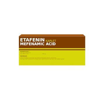 Etafenin Kaplet 500 mg (1 Strip @ 10 Kaplet) adalah obat untuk untuk mengatasi nyeri ringan hingga sedang