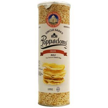 Lentil Uncle Saba's Poppadoms Keripik Kacang - Original 70 g harga terbaik 48600