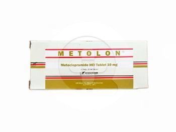 Metolon tablet adalah obat untuk mengatasi mual dan muntah akibat gangguan saluran pencernaan.