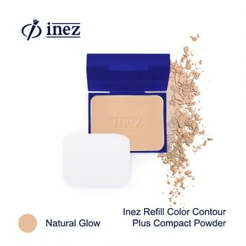 Inez Color Contour Plus Refill Compact Powder - Natural Glow harga terbaik