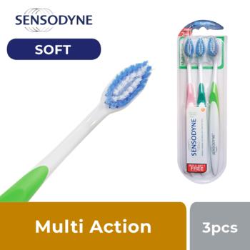 Sensodyne Sikat Gigi Sensitif Multi Action Soft 3s harga terbaik 30000