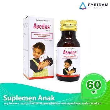 Asedas sirup merupakan suplemen untuk meningkatkan nafsu makan pada anak.