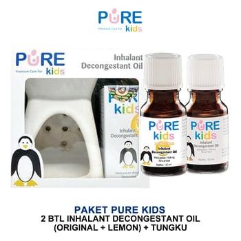 Pure Kids Inhalant Decongestant Original & Lemon & Tungku Paket harga terbaik 89599