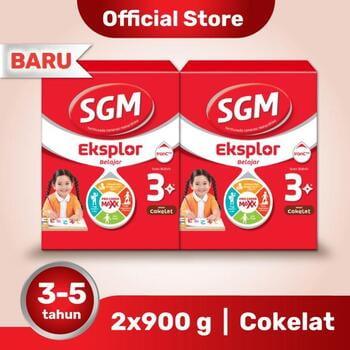 Paket 2 - SGM Eksplor 3 Plus Susu Pertumbuhan 3-5 Tahun Coklat 900 g harga terbaik