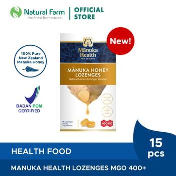 Manuka Health MGO 400+ With Ginger&Lemon Lozenges harga terbaik