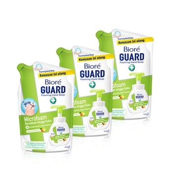 Biore Hand Soap Fresh Antiseptic Pouch 250 ml - Triple Pack harga terbaik 44700
