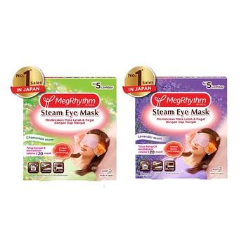 MegRhythm Steam Eye Mask Lavender + Chamomile - 5 Pcs harga terbaik 149200
