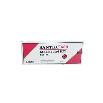 Santibi tablet digunakan untuk mengobati tuberkulosis paru.