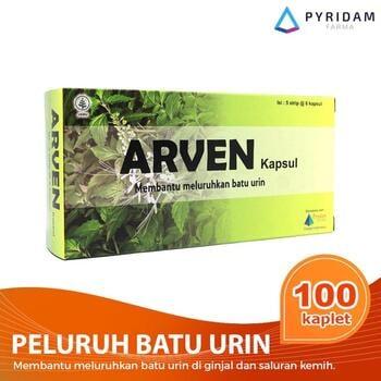 Arven Kapsul (5 Strip @ 6 Kapsul) - Suplemen Untuk Batu Urine