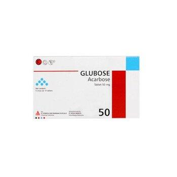 Glubose adalah obat untuk pasien diabetes melitus. Glubose mengandung acarbose sebagai obat antidiabetik inhibitor alpha-glucosidase