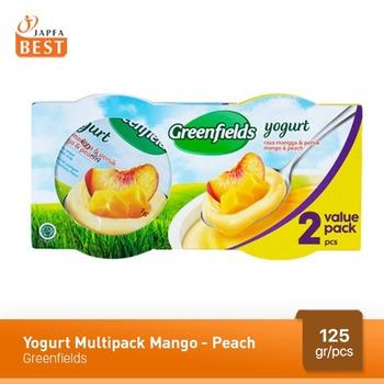 Greenfields Yogurt Mango-Peach 125 g - 2 Pcs harga terbaik