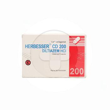 Herbesser CD adalah obat untuk tekanan darah tinggi ringan-sedang dan penyakit jantung koroner.