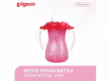 Pigeon Petite Straw Bottle - Pink harga terbaik 73500