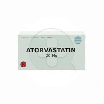 Atorvastatin Tablet 20 mg harga terbaik 30024