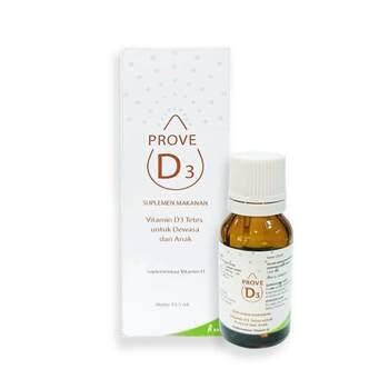 Prove D3 Drops 12,5 ml adalah obat untuk digunakan untuk meningkatkan kadar 25(oh)d dalam darah pada pasien dengan kekurangan vitamin d (kadar 25(oh)d serum <30 ng/ml).