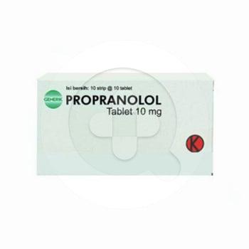 Propranolol Tablet 10 mg (1 Strip @ 10 Tablet)