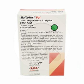 Maltofer Fol tablet digunakan untuk mencukupi kebutuhan zat besi penderita anemia