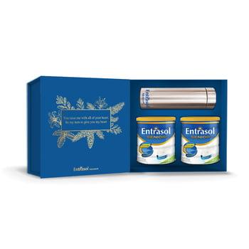 Health Package For Immunity - 2 Kaleng Entrasol Senior Vanilla 400 g + Tumbler Life Stainless harga terbaik