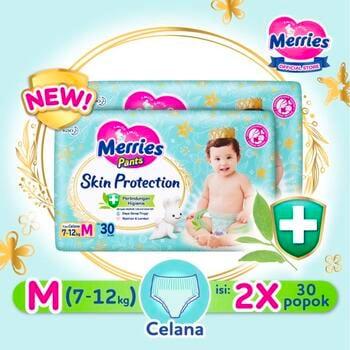 Merries Skin Protection Popok Bayi Celana M 30  harga terbaik 166200