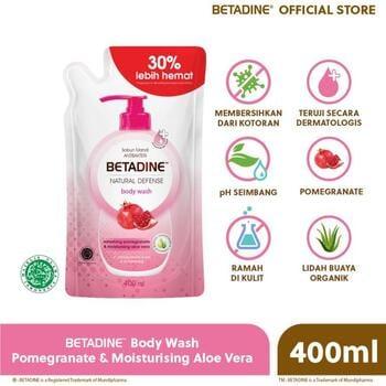 BETADINE Body Antibacterial Wash Pomegranate Refill 400 mL harga terbaik 38700