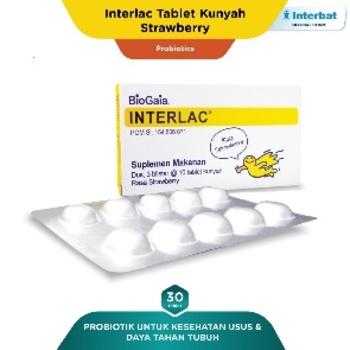 Interlac Tablet Kunyah Strawberry harga terbaik 276000