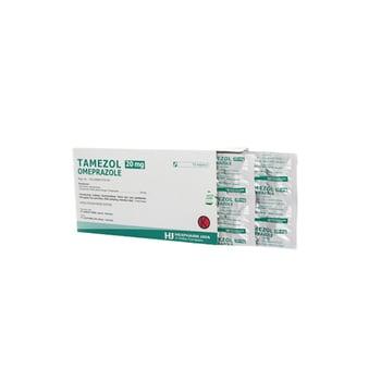Tamezol kapsul adalah obat untuk mengatasi luka pada dinding lambung, usus 12 jari, dan  tumor di pankreas atau bagian atas usus halus (sindrom Zollinger-Ellison).