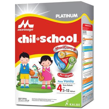Morinaga Chil School Platinum Moricare+ Vanilla 2 x 400 g harga terbaik 211000