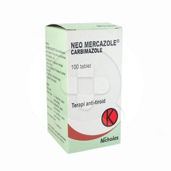 Neo mercazole tablet obat yang digunakan untuk keadaan dimana penurunan aktivitas tiroid diperlukan