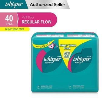 Whisper Pembalut Wanita Regular Flow 40's harga terbaik 50800