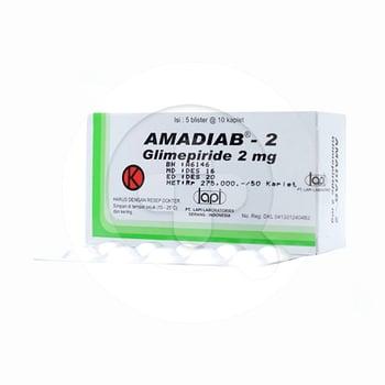 Amadiab Kaplet 2 mg  harga terbaik