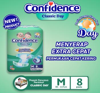 Confidence Popok Dewasa Classic Day M 8 harga terbaik 40000
