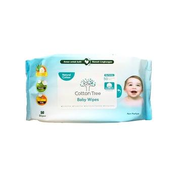 CottonTree Baby Wipes Non Parfum 50s harga terbaik 27500