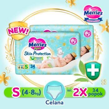 Merries Skin Protection Popok Bayi Celana S 34  harga terbaik 166200