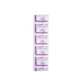 Clinmas Kapsul adalah obat yang mengandung  clindamycin hcl150 mg.