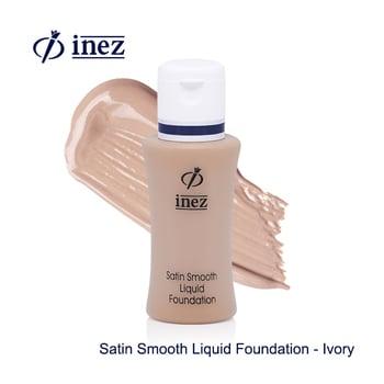 Inez Satin Smooth Liquid Foundation - Ivory harga terbaik