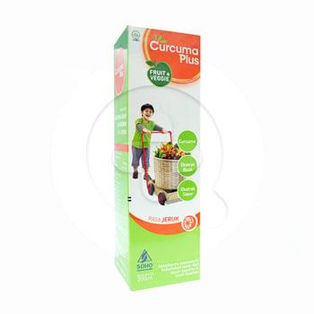 Curcuma Plus Fruit & Veggie Rasa Jeruk Sirup 200 mL harga terbaik 38632