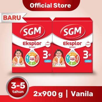 Paket 2 - SGM Eksplor 3 Plus Susu Pertumbuhan 3-5 Tahun Vanila 900 g harga terbaik