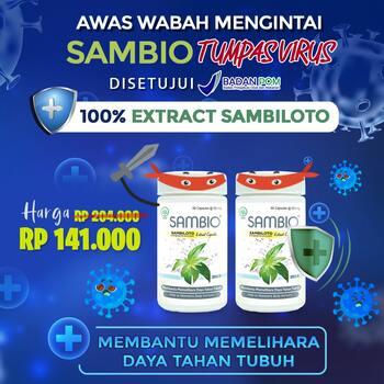 PROMO 2 Botol - Borobudur Herbal Sambio Kapsul  harga terbaik 149000