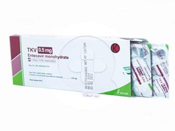 TKV tablet digunakan untuk terapi infeksi virus hepatitis B kronik pada dewasa.