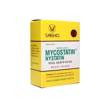 Mycostatin Oral Drop 30 ml adalah obat untuk pengobatan infeksi jamur dalam rongga mulut